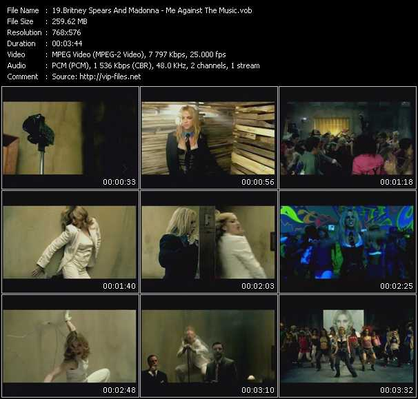 Screenshot of Music Video Britney Spears Feat. Madonna - Me Against The Music