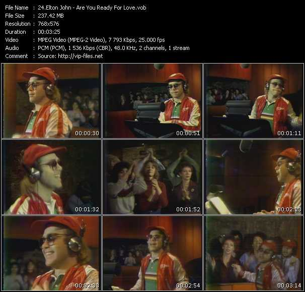Screenshot of Music Video Elton John - Are You Ready For Love?