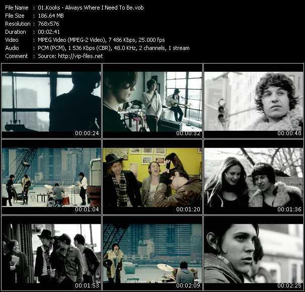 Screenshot of Music Video Kooks - Always Where I Need To Be