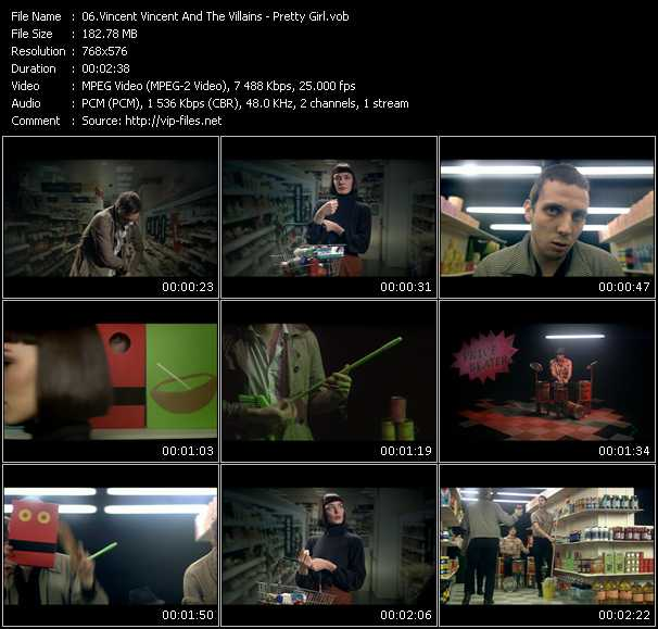 Screenshot of Music Video Vincent Vincent And The Villains - Pretty Girl