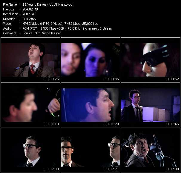 Screenshot of Music Video Young Knives - Up All Night