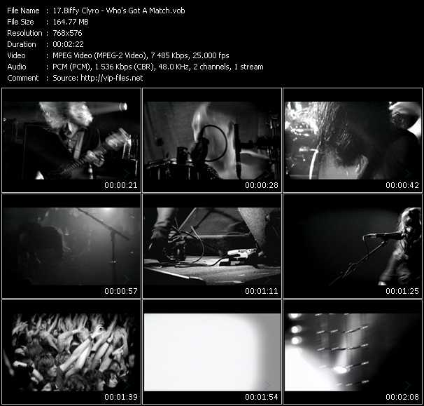 Screenshot of Music Video Biffy Clyro - Who's Got A Match