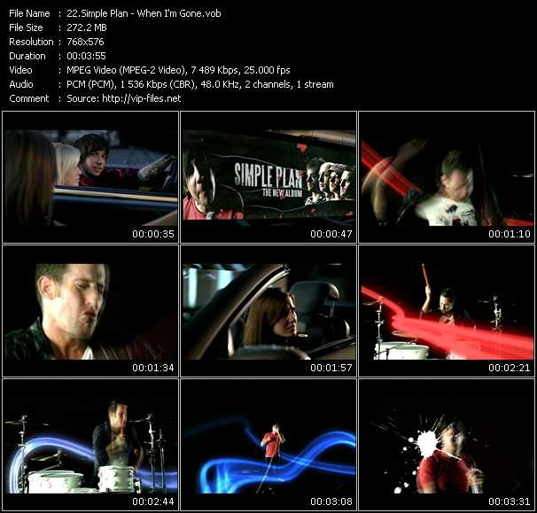 Screenshot of Music Video Simple Plan - When I'm Gone