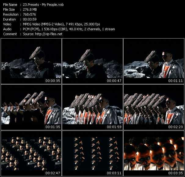 Screenshot of Music Video Presets - My People