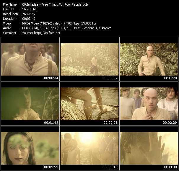 Screenshot of Music Video Infadels - Free Things For Poor People