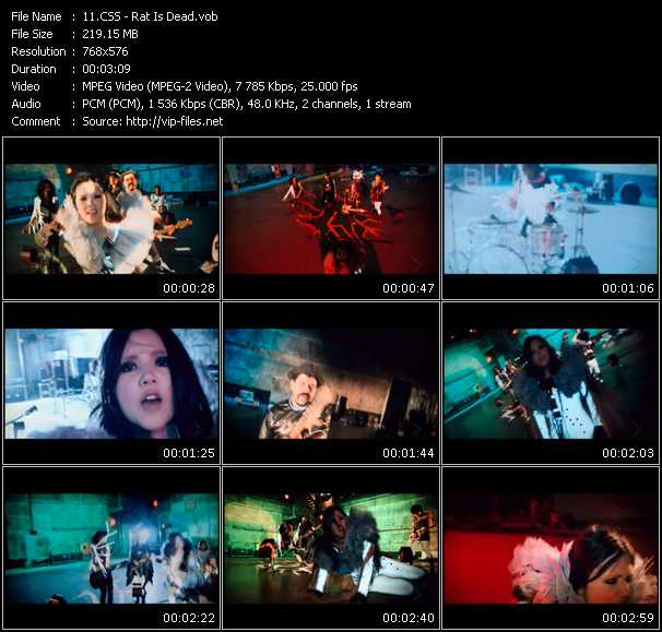 Screenshot of Music Video Css - Rat Is Dead
