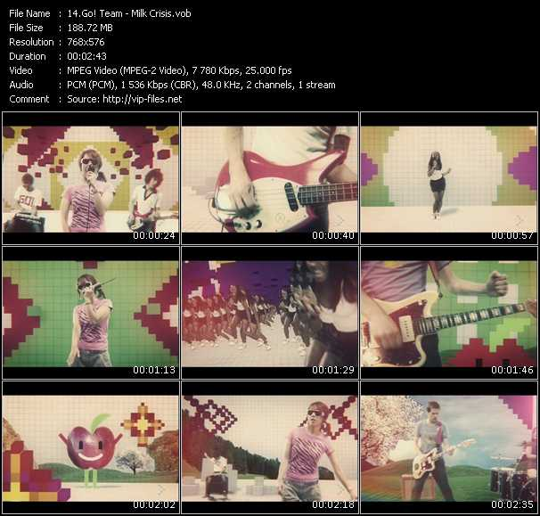 Screenshot of Music Video Go! Team - Milk Crisis