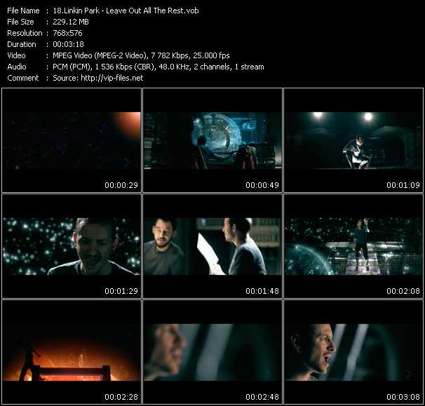 Screenshot of Music Video Linkin Park - Leave Out All The Rest