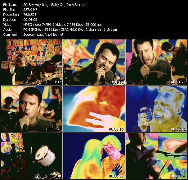 Screenshot of Music Video Say Anything - Baby Girl, I'm A Blur