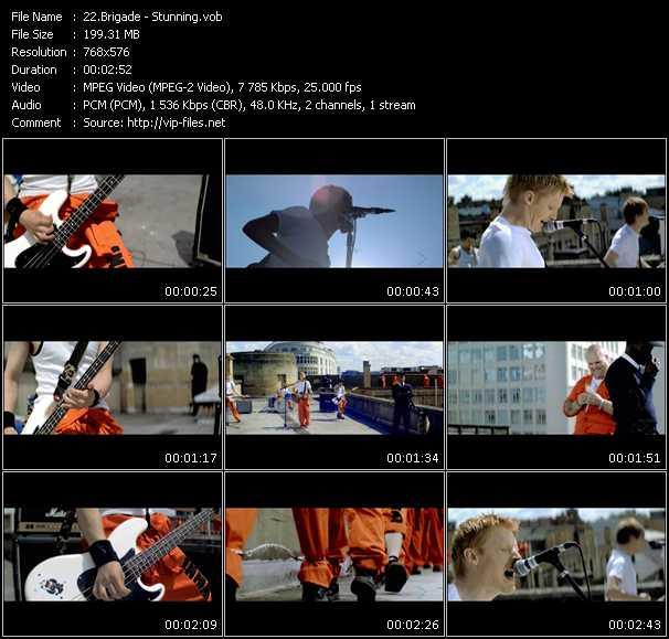Screenshot of Music Video Brigade - Stunning