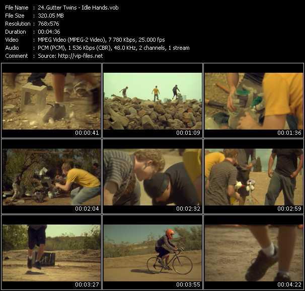 Screenshot of Music Video Gutter Twins - Idle Hands