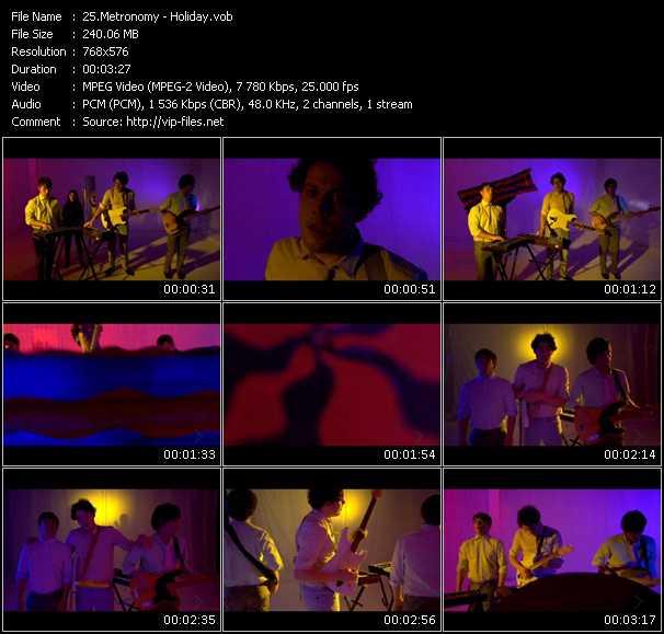 Screenshot of Music Video Metronomy - Holiday