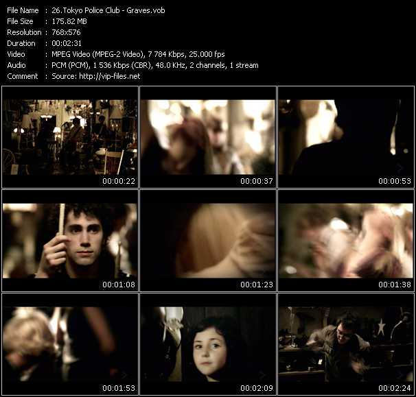 Screenshot of Music Video Tokyo Police Club - Graves