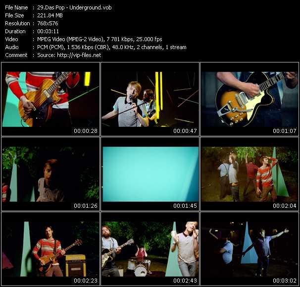 Screenshot of Music Video Das Pop - Underground