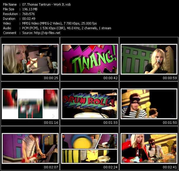 Screenshot of Music Video Thomas Tantrum - Work It