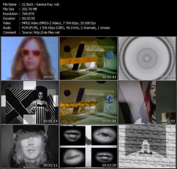 Screenshot of Music Video Beck - Gamma Ray