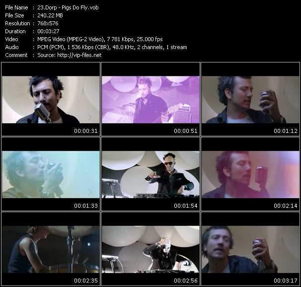 Screenshot of Music Video Dorp - Pigs Do Fly