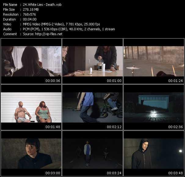 Screenshot of Music Video White Lies - Death