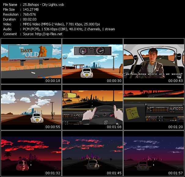 Screenshot of Music Video Bishops - City Lights