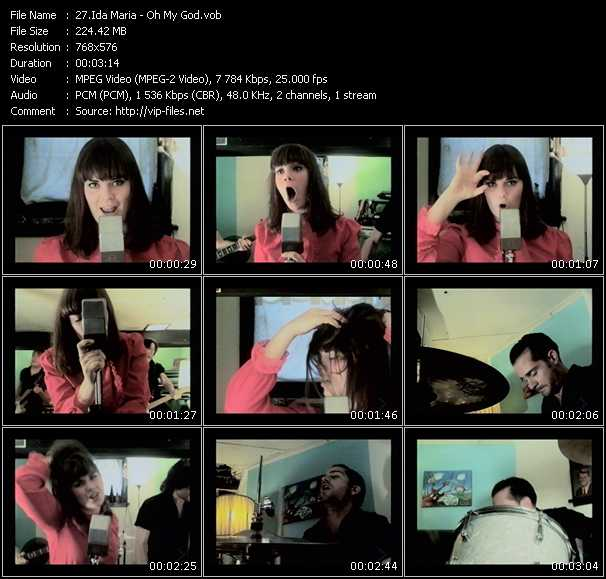 Screenshot of Music Video Ida Maria - Oh My God