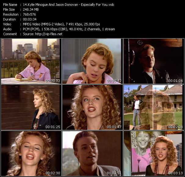 Kylie Minogue And Jason Donovan video vob