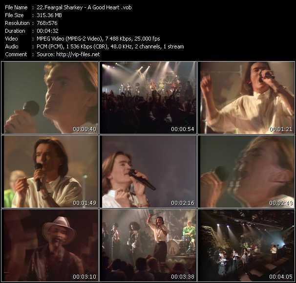 Screenshot of Music Video Feargal Sharkey - A Good Heart