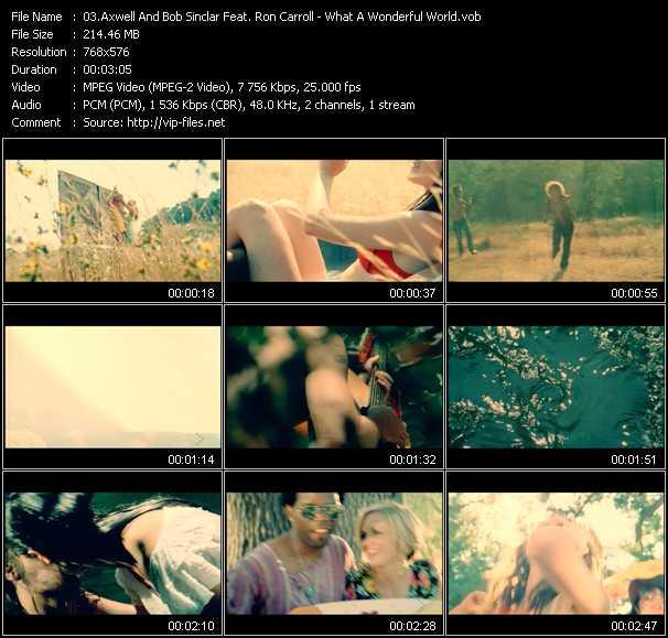 Axwell And Bob Sinclar Feat. Ron Carroll видеоклип vob