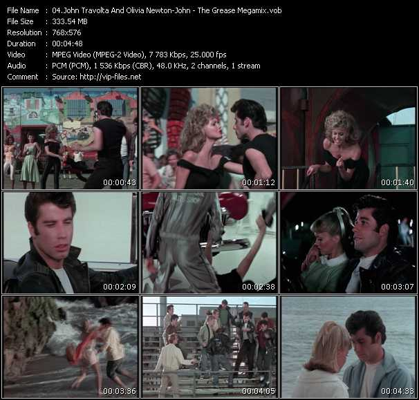 Screenshot of Music Video John Travolta And Olivia Newton-John - The Grease Megamix