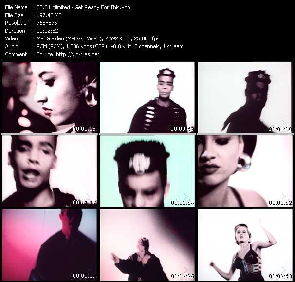 Screenshot of Music Video 2 Unlimited - Get Ready For This