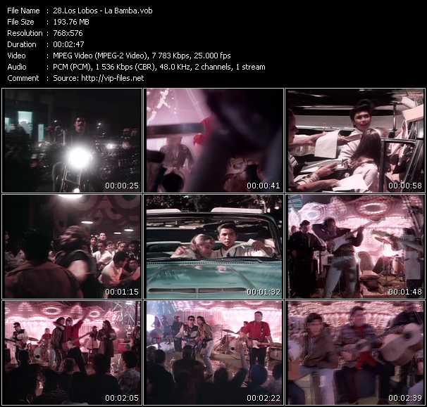 Screenshot of Music Video Los Lobos - La Bamba