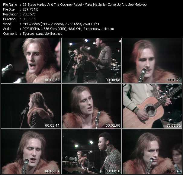 Screenshot of Music Video Steve Harley And Cockney Rebel - Make Me Smile (Come Up And See Me)