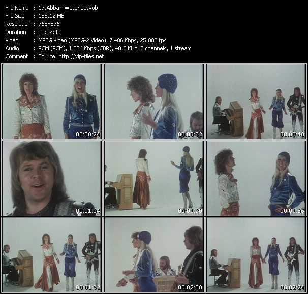 Screenshot of Music Video Abba - Waterloo