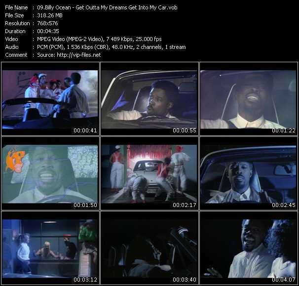 Screenshot of Music Video Billy Ocean - Get Outta My Dreams, Get Into My Car