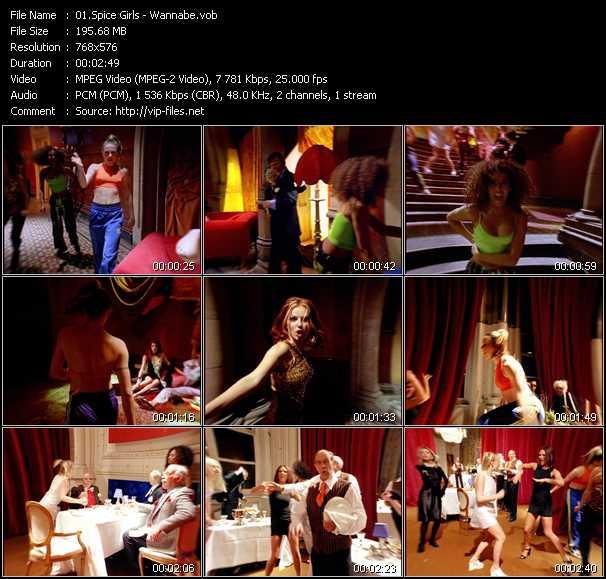 Screenshot of Music Video Spice Girls - Wannabe