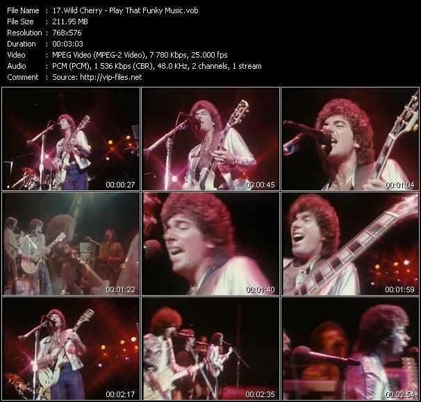 Screenshot of Music Video Wild Cherry - Play That Funky Music