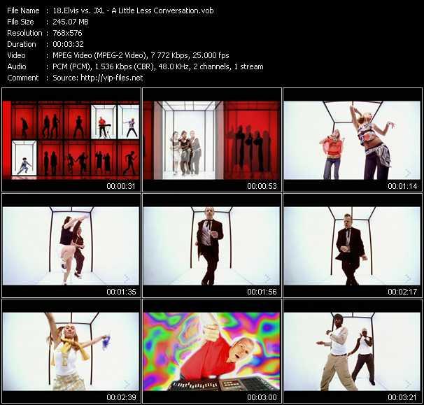 Screenshot of Music Video Elvis Vs. JXL - A Little Less Conversation