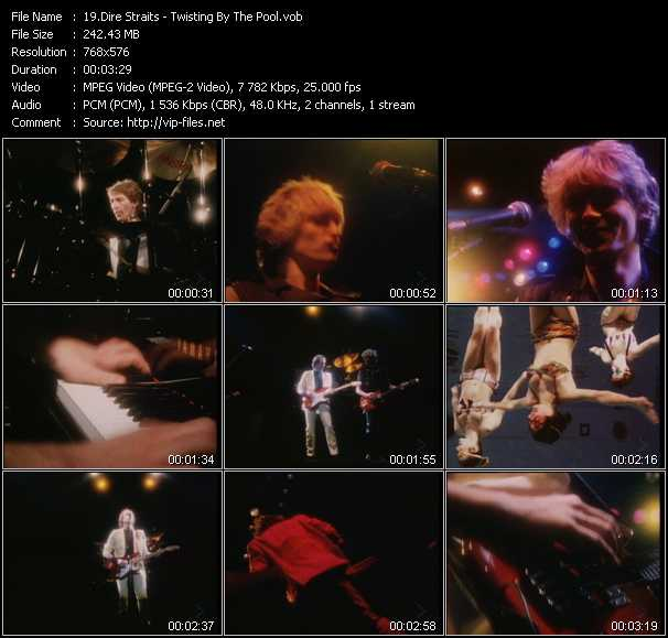 Screenshot of Music Video Dire Straits - Twisting By The Pool