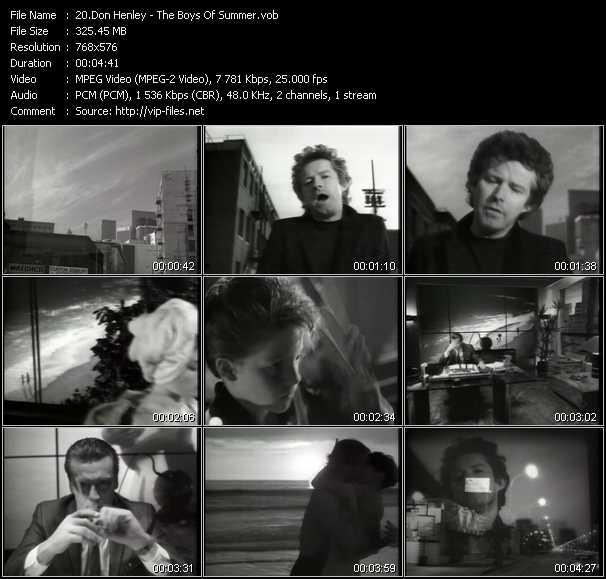 Screenshot of Music Video Don Henley - The Boys Of Summer
