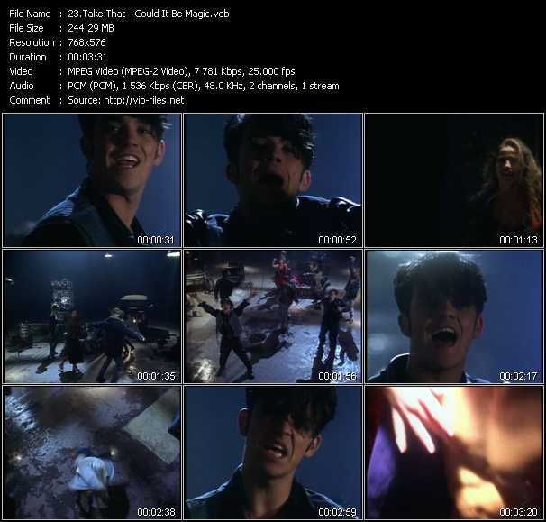 Screenshot of Music Video Take That - Could It Be Magic
