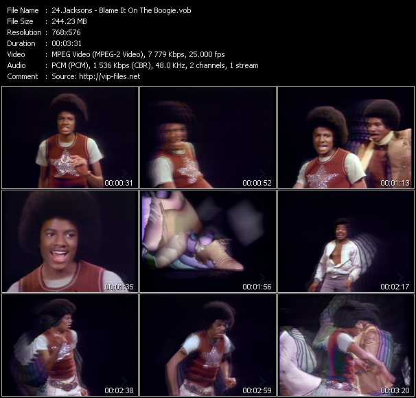 Screenshot of Music Video Michael Jackson And The Jacksons (Jackson 5) - Blame It On The Boogie