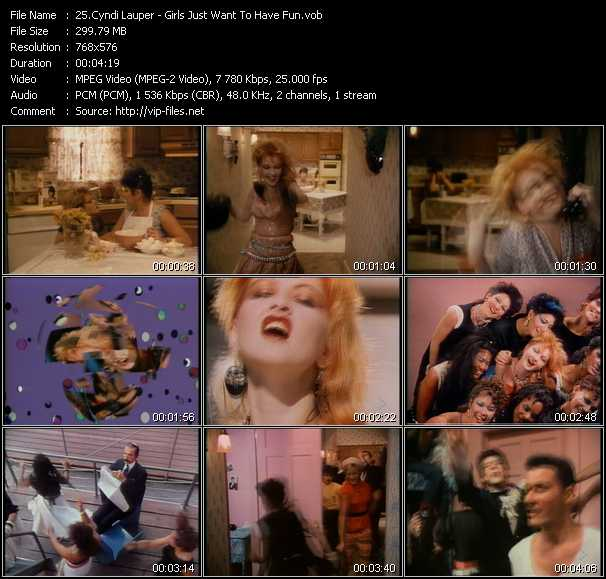 Screenshot of Music Video Cyndi Lauper - Girls Just Want To Have Fun
