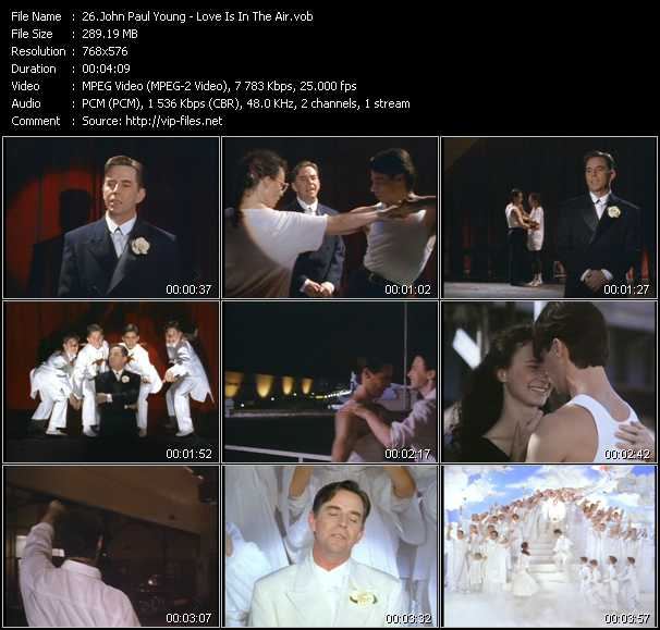 Screenshot of Music Video John Paul Young - Love Is In The Air