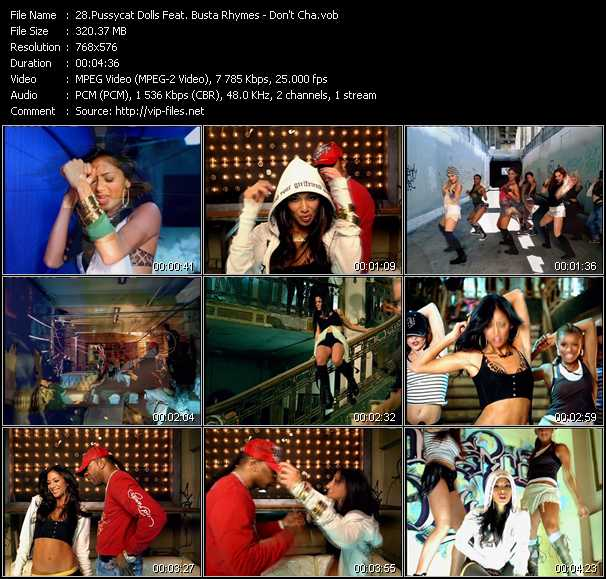 Screenshot of Music Video Pussycat Dolls Feat. Busta Rhymes - Don't Cha