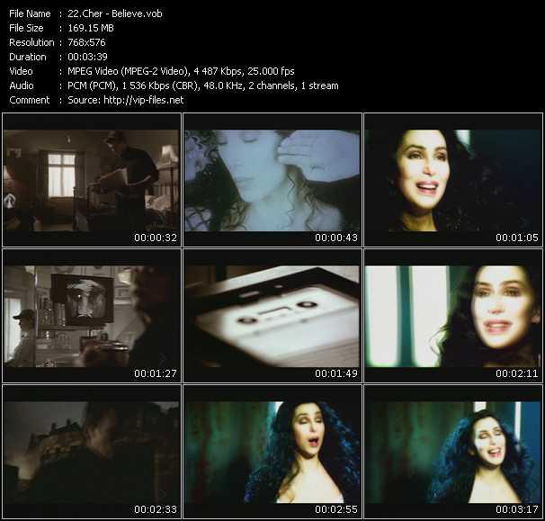 Screenshot of Music Video Cher - Believe
