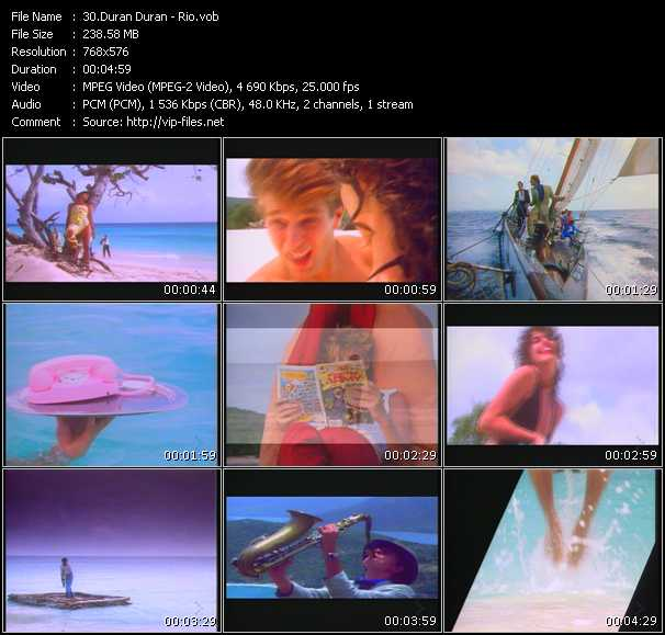 Screenshot of Music Video Duran Duran - Rio