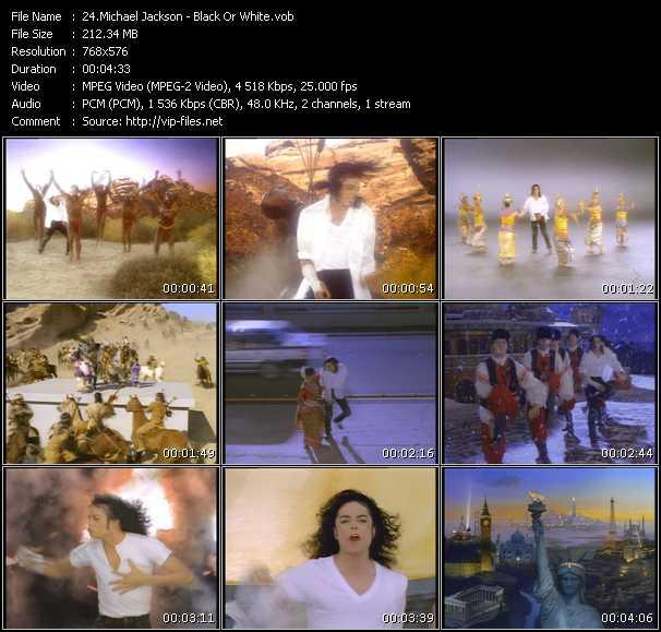Screenshot of Music Video Michael Jackson - Black Or White