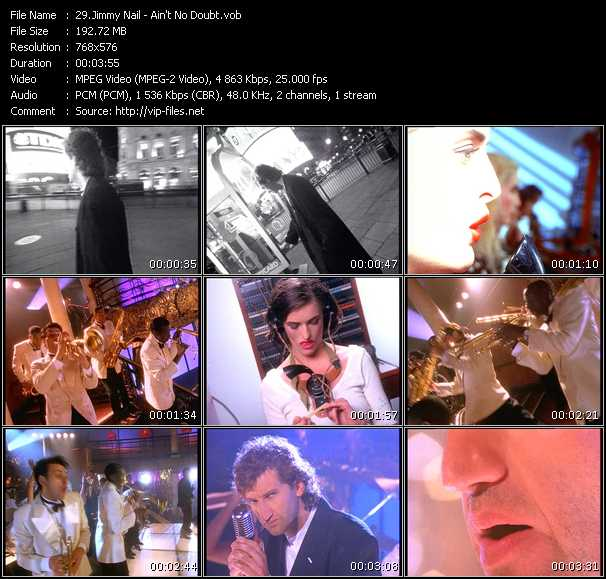 Screenshot of Music Video Jimmy Nail - Ain't No Doubt
