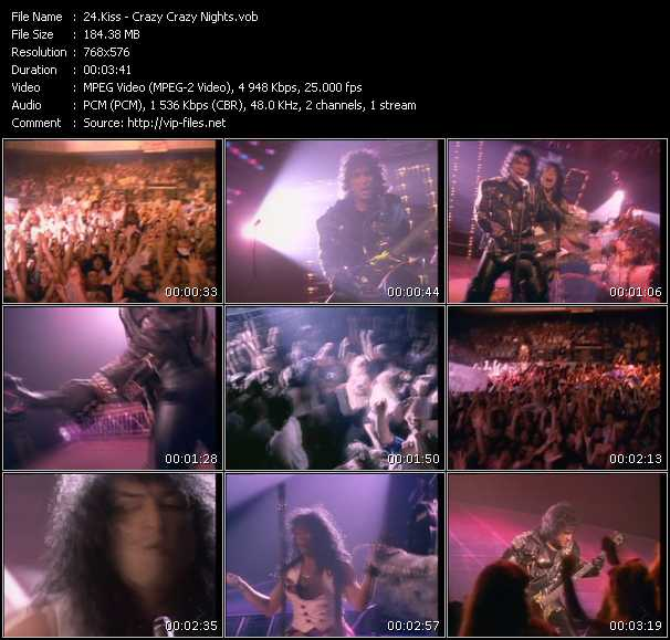 Screenshot of Music Video Kiss - Crazy Crazy Nights