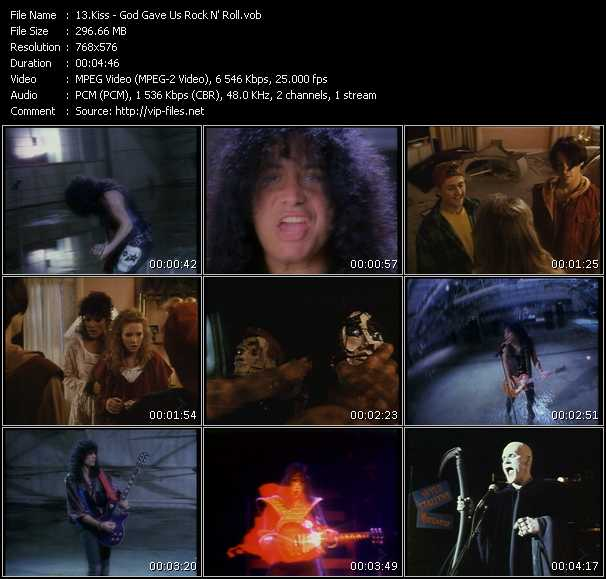 Screenshot of Music Video Kiss - God Gave Us Rock N' Roll