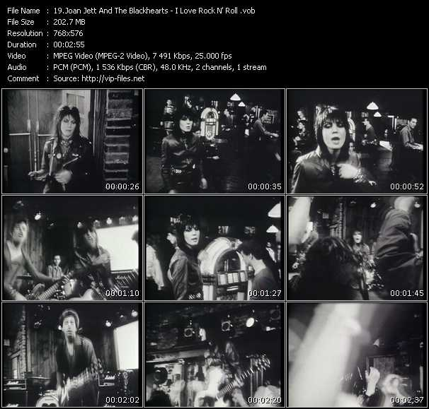 Screenshot of Music Video Joan Jett And The Blackhearts - I Love Rock N' Roll